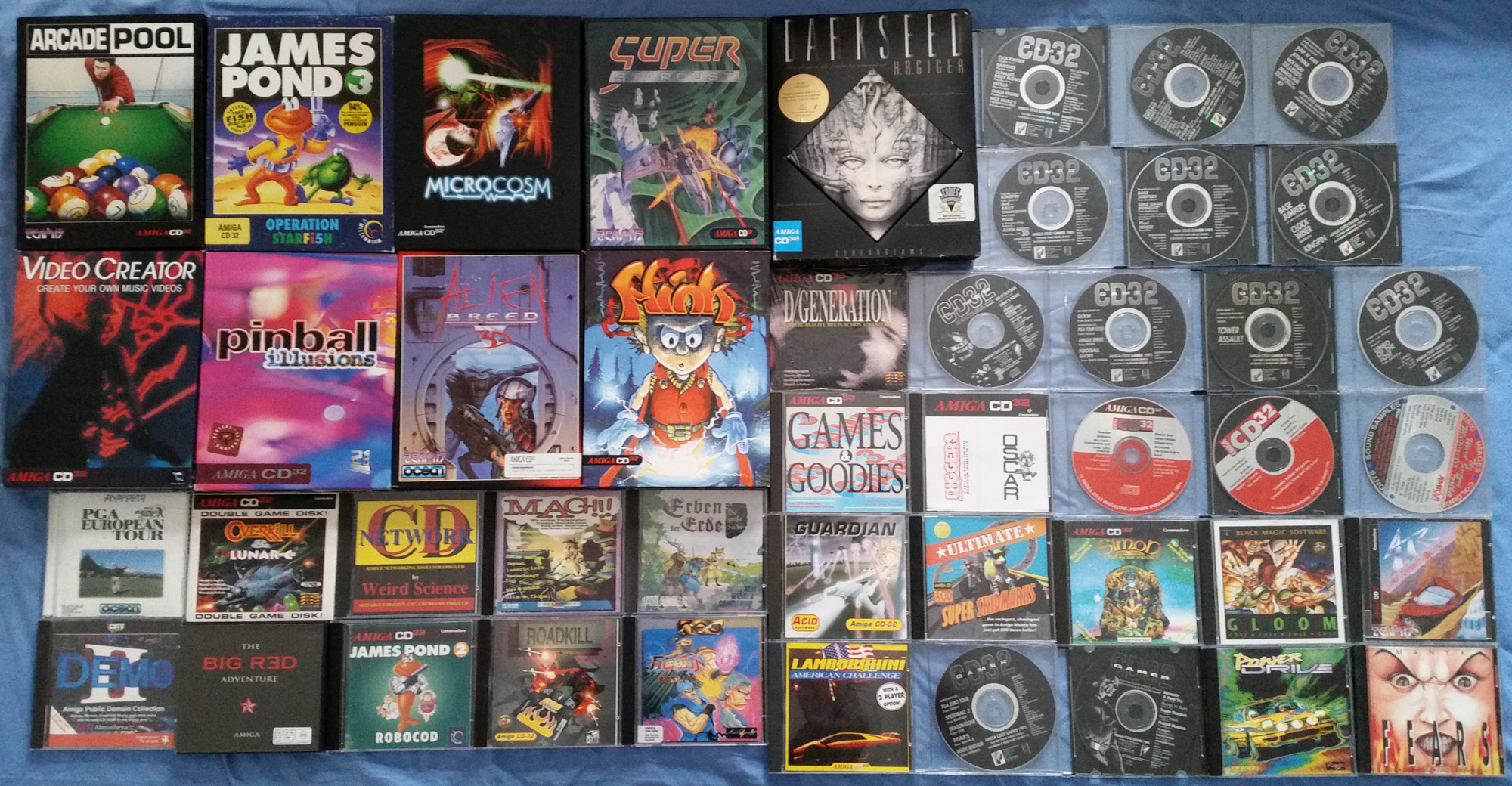 Amiga CD32 disc label and CD cover scans? - English Amiga Board